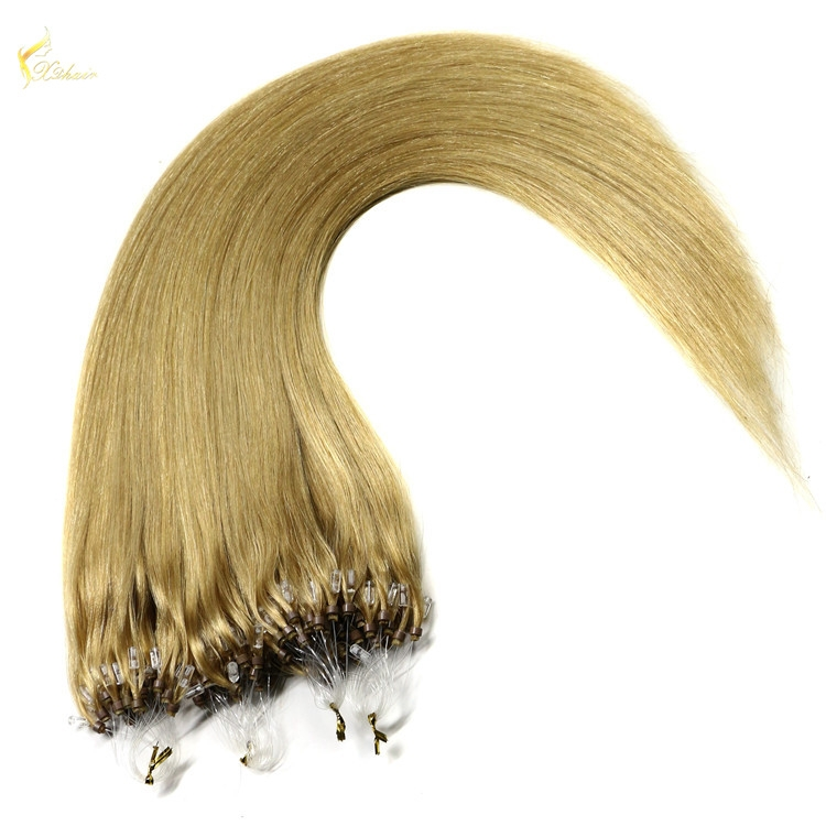 Wholesale micro loop hair extensions easy loop 1g micro bead hair extension double bead brazilian micro ring loop hair