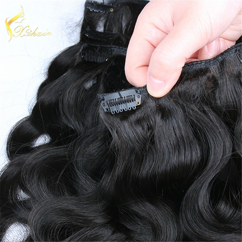 Xinda Hair Top Quality Wholesale Price Accept OEM ODM 100 Remy Clip In Hair Extensions
