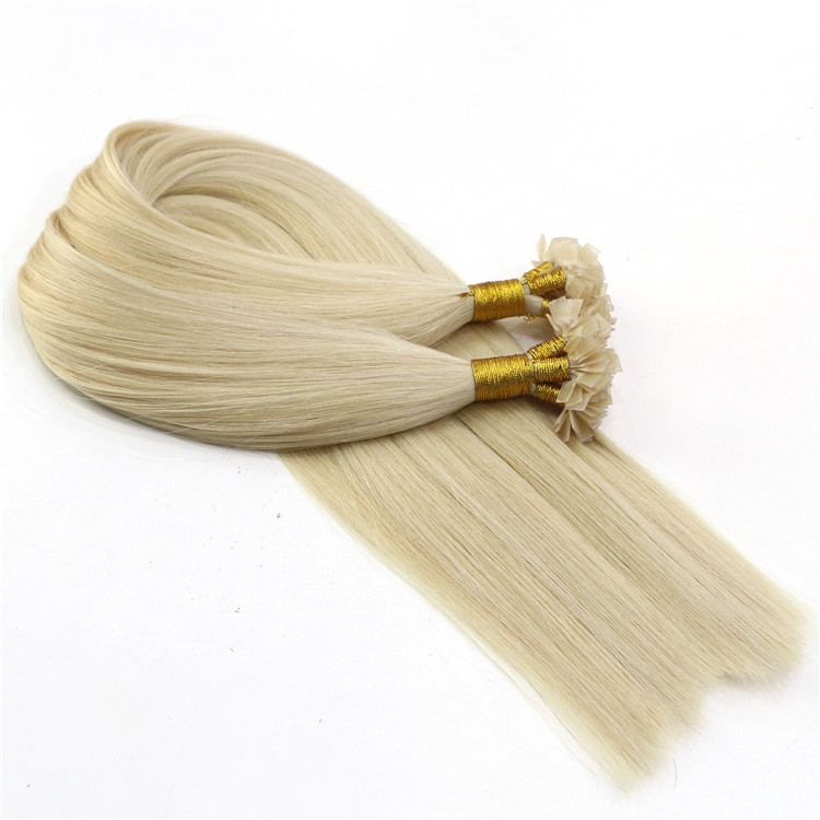 aliexpress china blonde color 60# cut from one donor 100% virgin brazilian remy human hair flat tip hair extensions