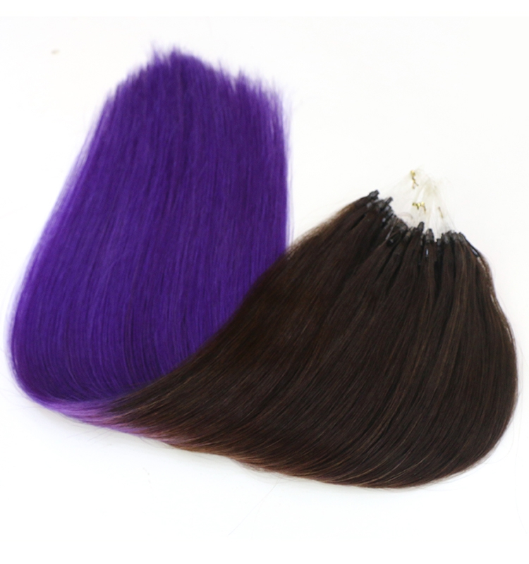 brazillian hair extensions 100 virgin indian remy human hair seamless micro loop ring hair extension wholesale