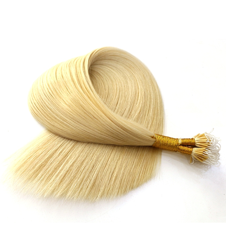 cheap lightest blonde color #60 cut from one donor 100% virgin brazilian indian remy human hair nano link ring hair extension
