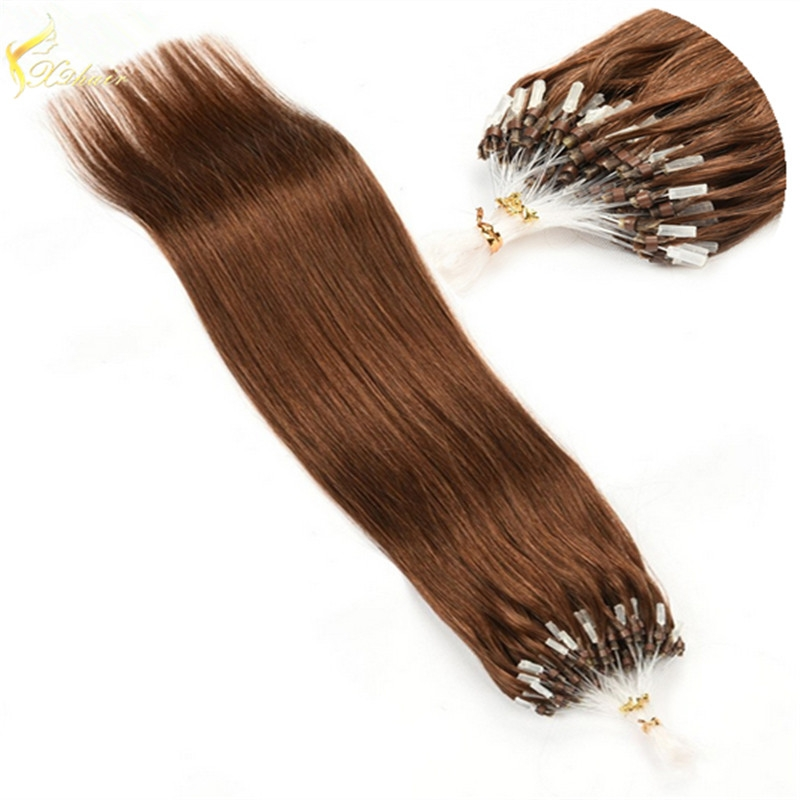 china supply high quality low price 100 brazilian remy hair micro ring hair extensions for black women