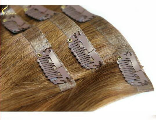 cynosure top quality brazilian hair wholesale clip in skin weft/clip in hair skin weft/clip in pu weft