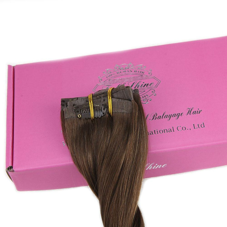 double drawn clip in human hair extension top quality clip hair extension