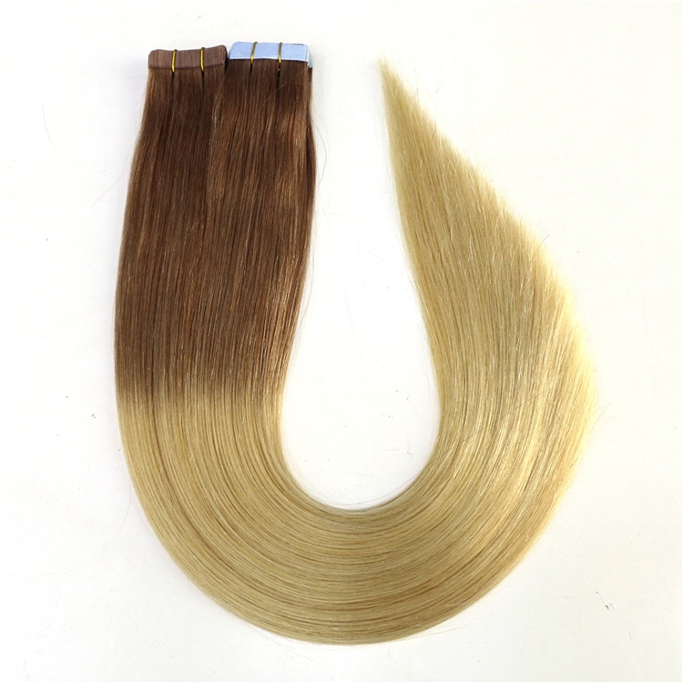 double drawn full end no chemical virgin brazilian indian remy human PU tape hair extension