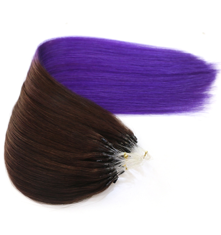hair wholesale supplier in china 100% virgin brazilian remy human hair seamless micro loop ring hair extension