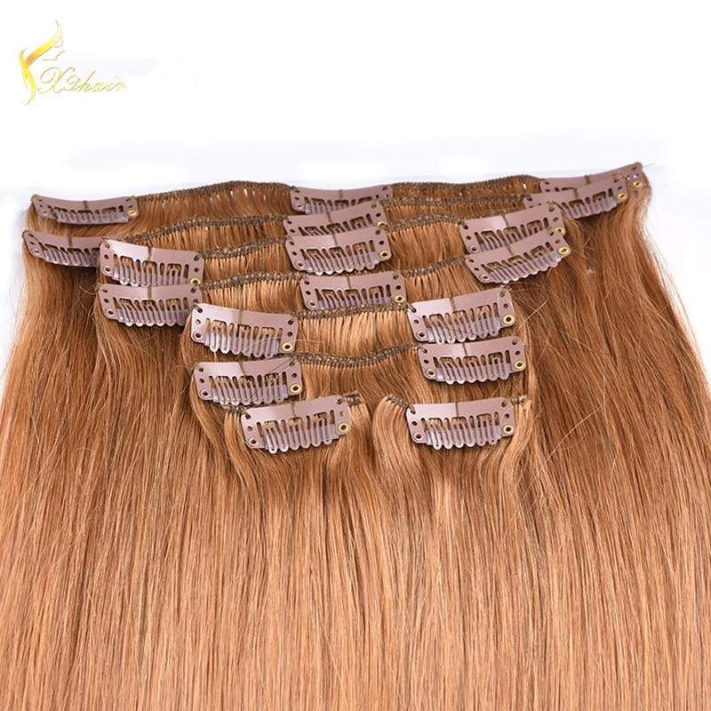 hot new hair Double drawn 7a luxury all textures human hair extensions clips,clip in hair extensions