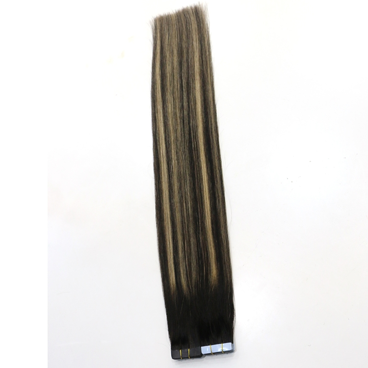 hot sale two tone balayage virgin brazilian indian remy human PU tape hair extension