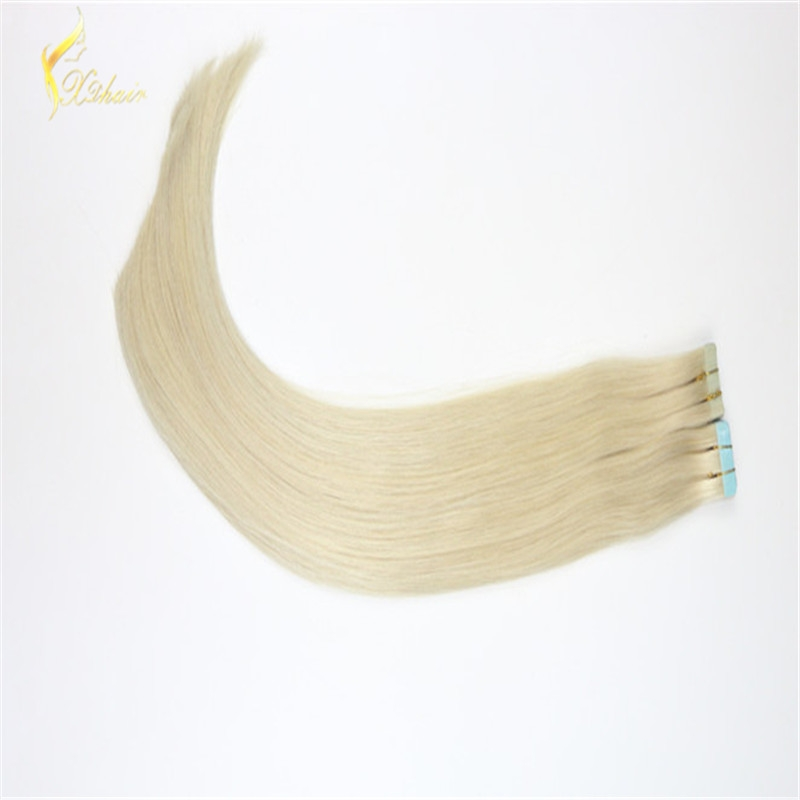 long silk straight #60 Wholesale double drawn high quality brazilian straight tape in human hair extensions