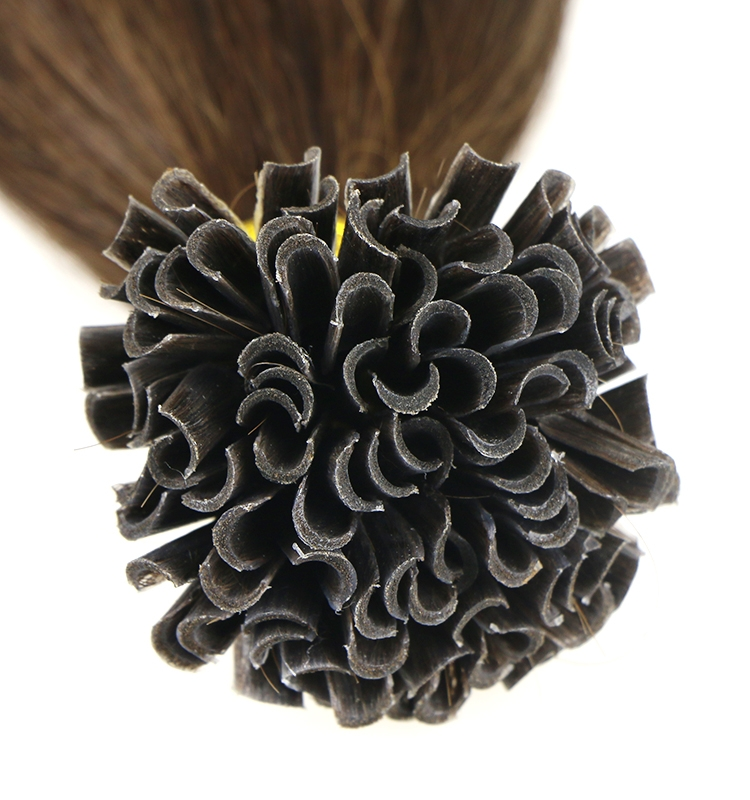 raw virgin unprocessed hair wholesale 100% brazilian remy human hair U nail tip hair extension