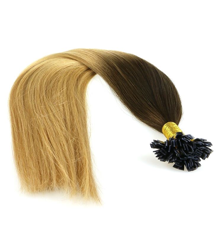 the same thickness from head until the end of the hair virgin brazilian indian remy human hair seamless flat tip hair extension
