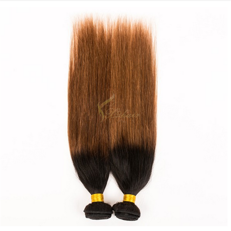 top quality two tone ombre colored hair weave bundles body wave 100% remy virgin human hair extension