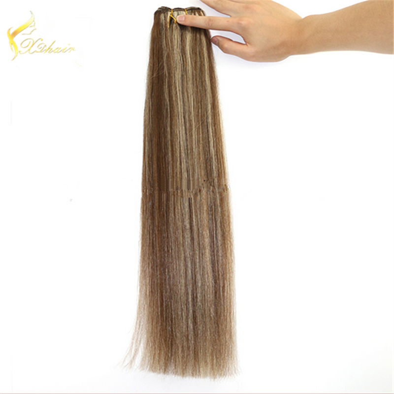 wholesale factory hot sale double drawn stable machine hair weft mixed color 100% brazilian virgin human hair weaves